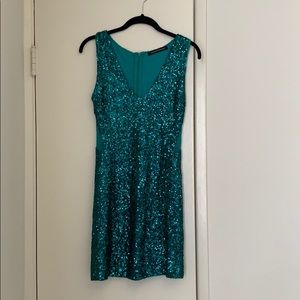 Teal Sequence Dress